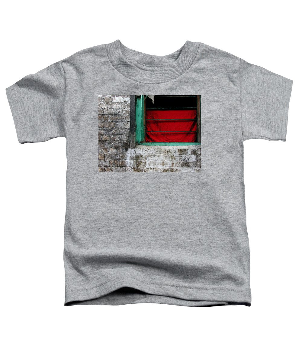 Red Toddler T-Shirt featuring the photograph Dharamsala Window by Skip Hunt