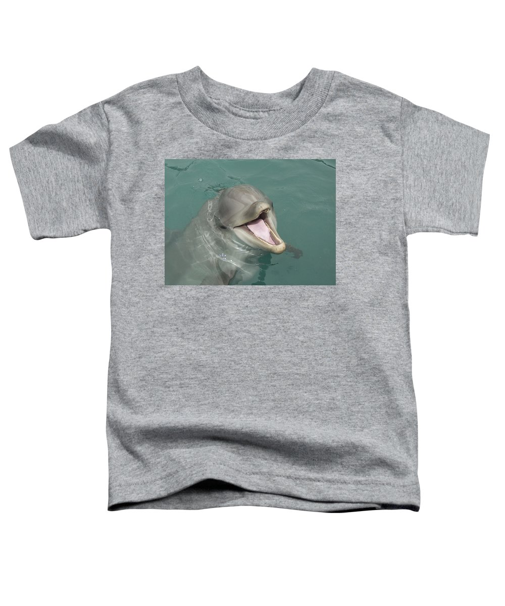 Dolphin Toddler T-Shirt featuring the painting Dolphin by Sean M