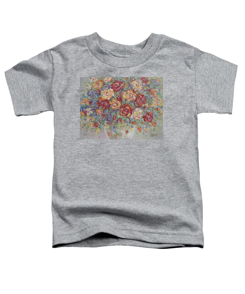 Flowers Toddler T-Shirt featuring the painting Double Delight. by Natalie Holland