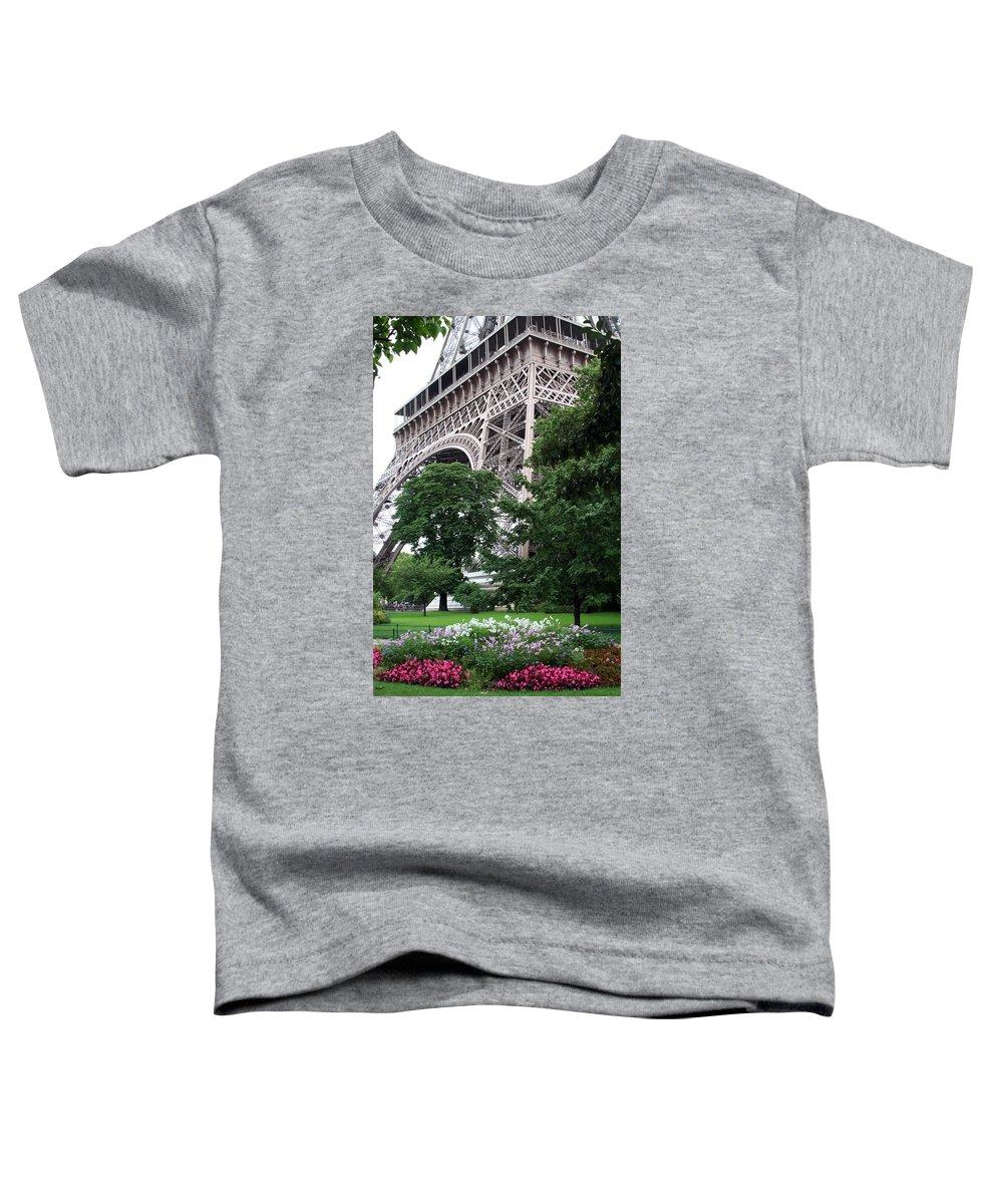Eiffel Toddler T-Shirt featuring the photograph Eiffel Tower Garden by Margie Wildblood