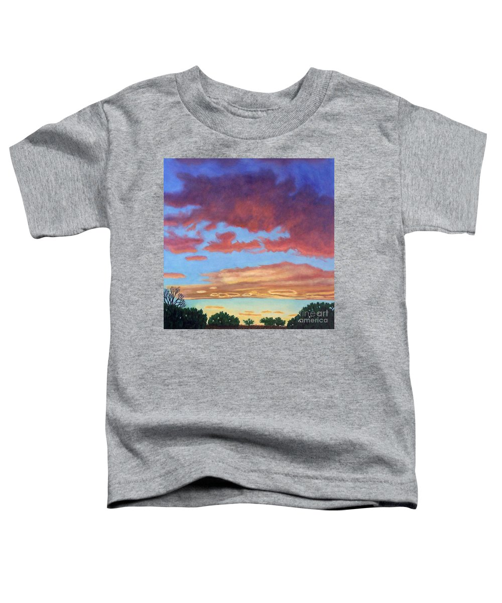 Sunset Toddler T-Shirt featuring the painting El Dorado Sunset by Brian Commerford