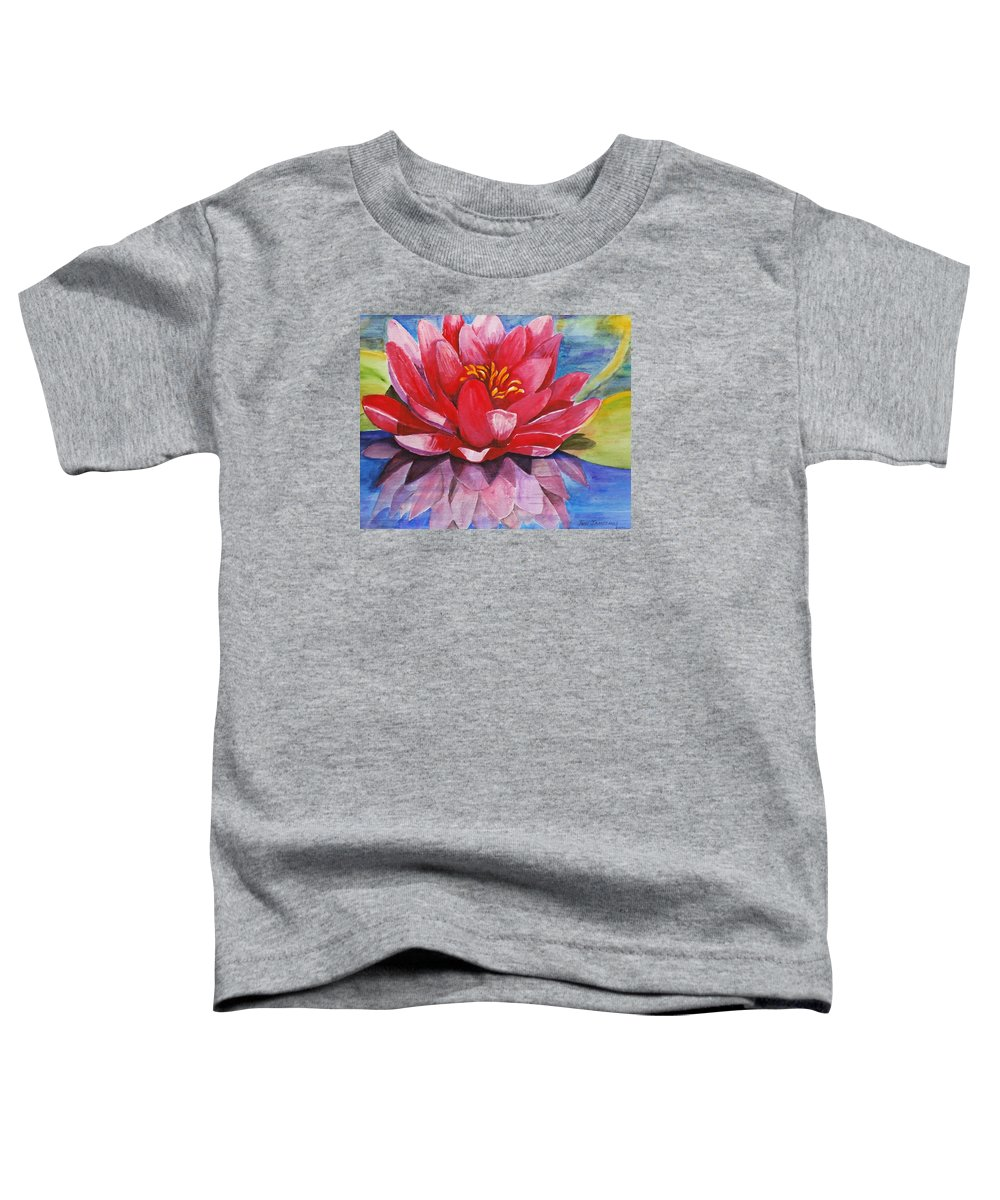 Lily Toddler T-Shirt featuring the painting Ela Lily by Jun Jamosmos