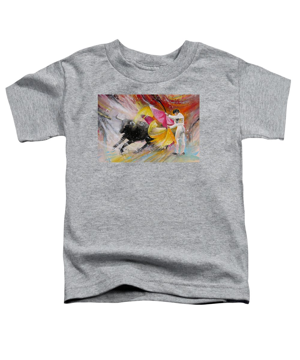 Animals Toddler T-Shirt featuring the painting Elegance by Miki De Goodaboom