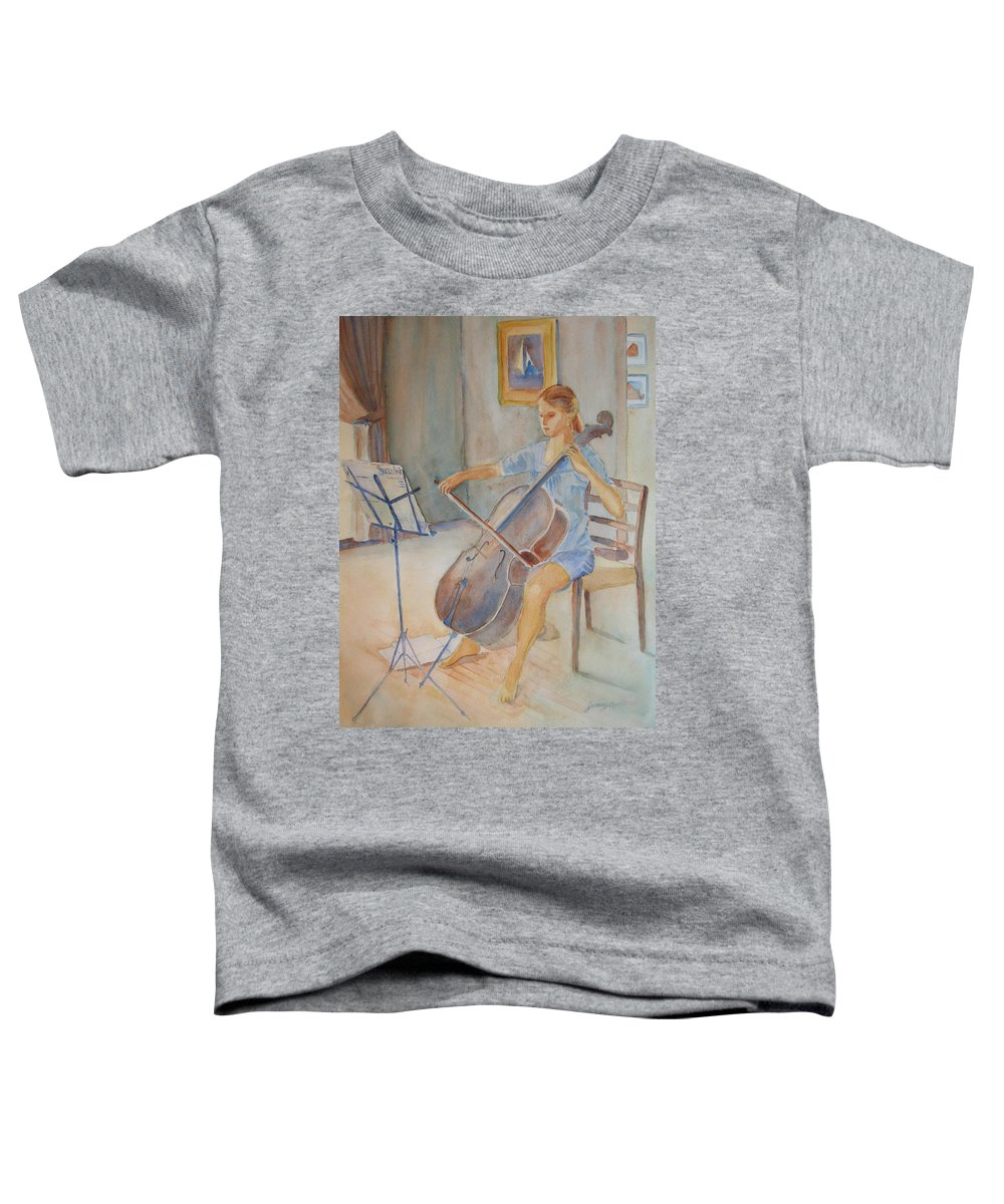 Girls Toddler T-Shirt featuring the painting Emma And Clifford by Jenny Armitage