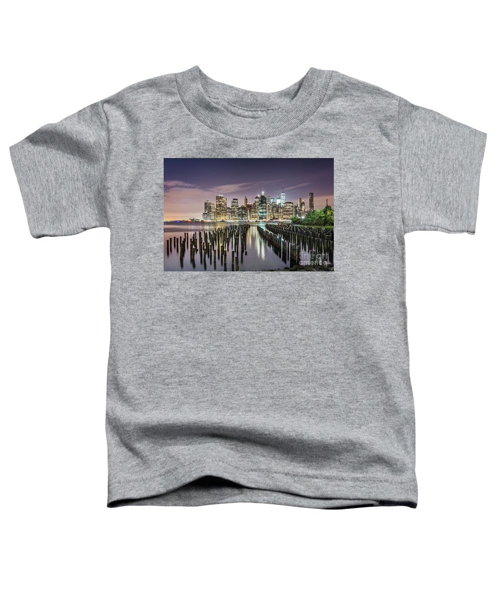 Kremsdorf Toddler T-Shirt featuring the photograph Empire Of Lights by Evelina Kremsdorf