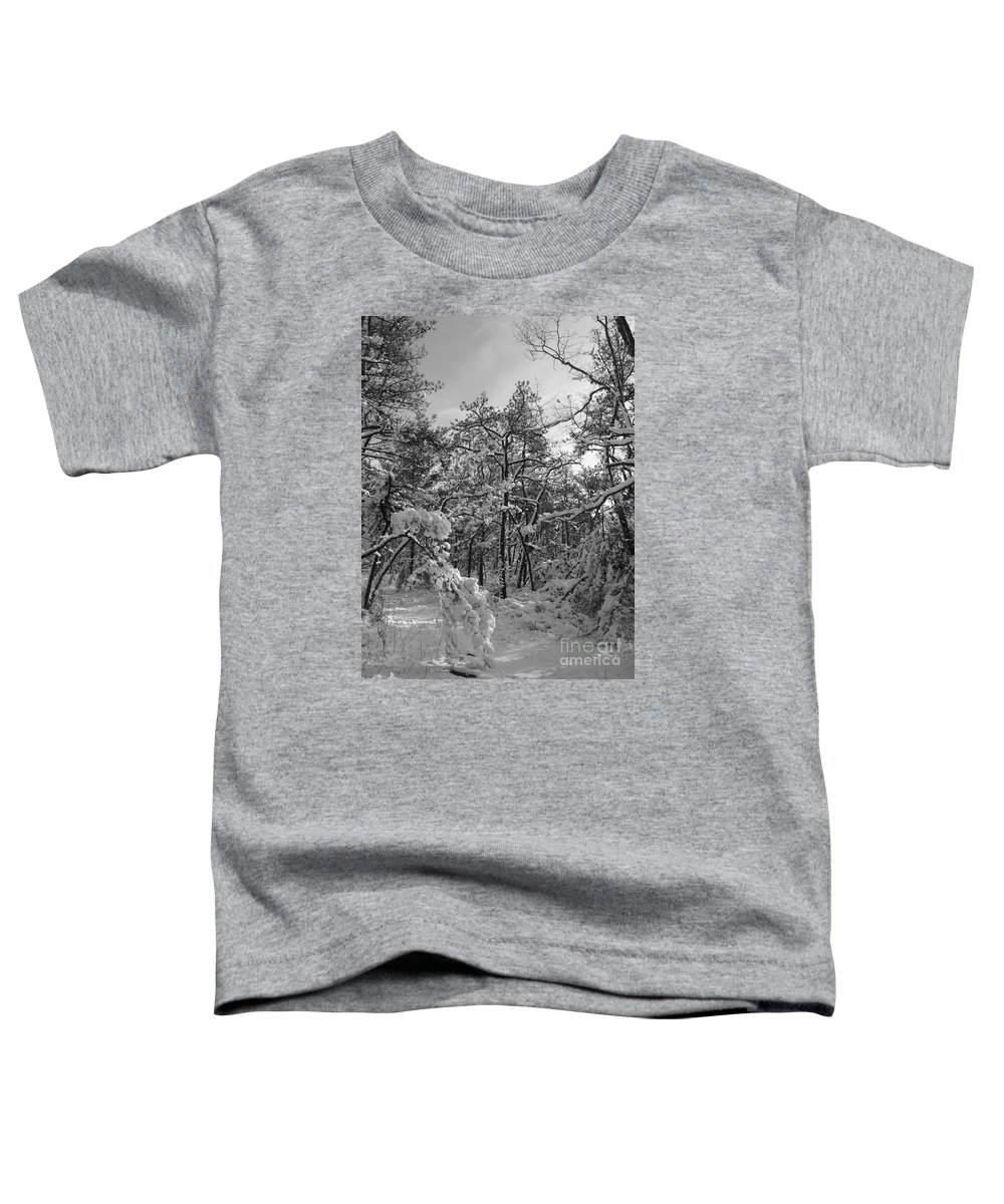 Black And White Toddler T-Shirt featuring the photograph Empty Travel by Chad Natti