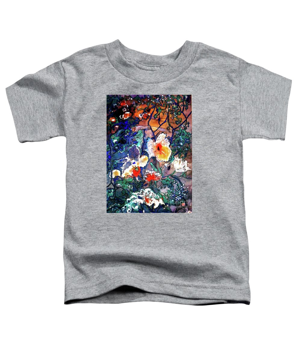 Landscape Toddler T-Shirt featuring the painting Enchanted Garden by Norma Boeckler