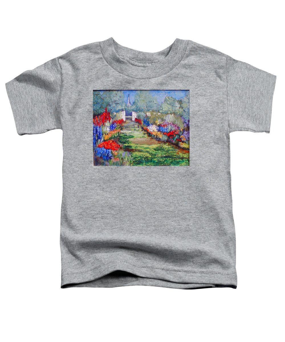 Landscape Toddler T-Shirt featuring the painting Enter His Gates by Gail Kirtz
