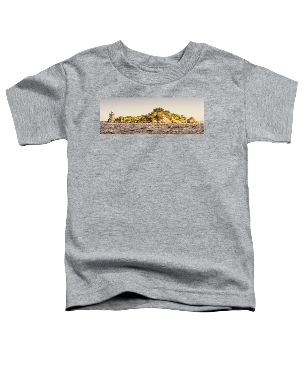 Island Toddler T-Shirt featuring the photograph Entrance Island Lighthouse, Hells Gates by Jorgo Photography - Wall Art Gallery