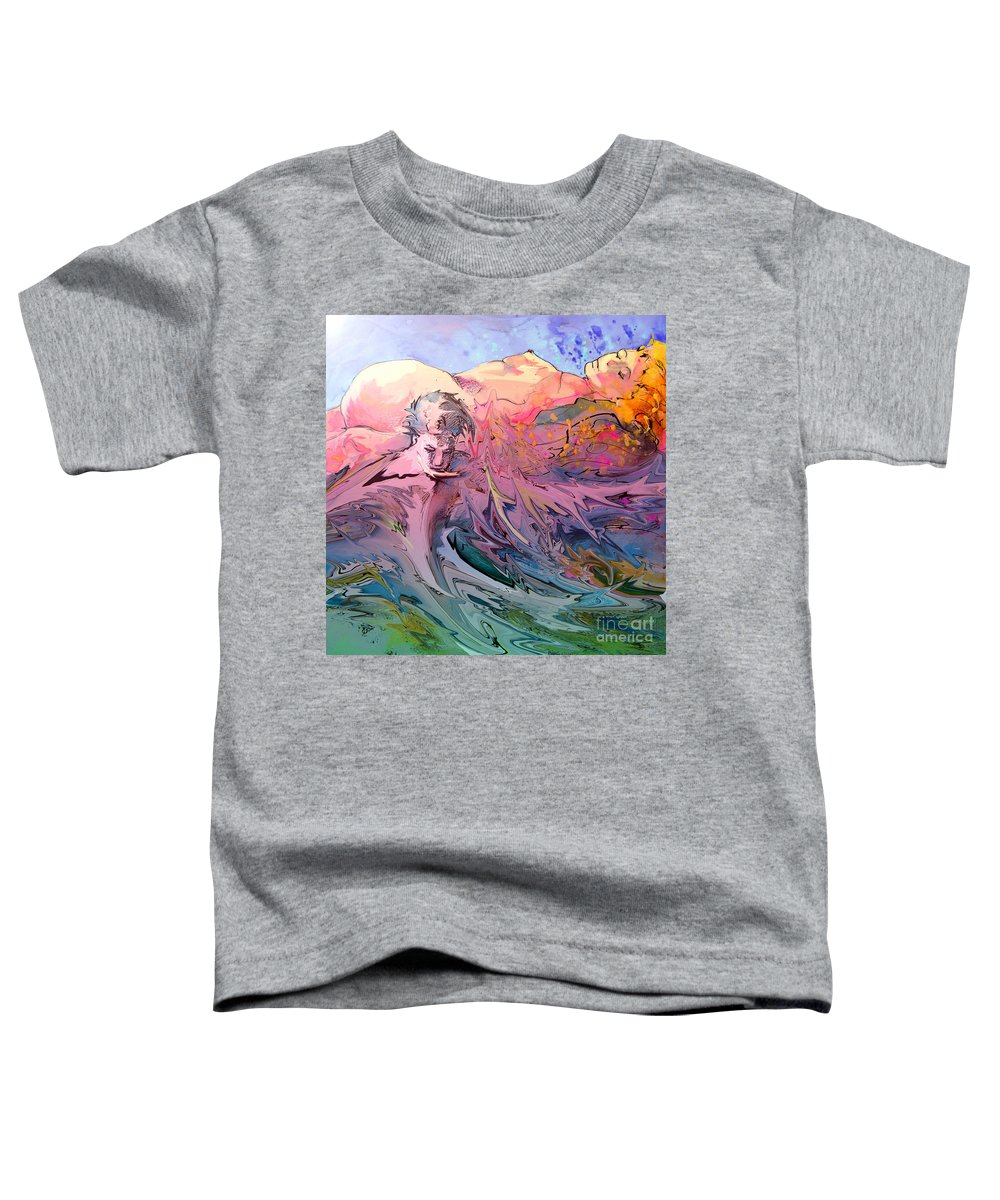 Miki Toddler T-Shirt featuring the painting Eroscape 10 by Miki De Goodaboom