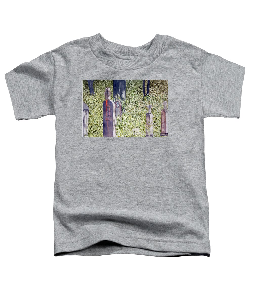 Cemeteries Toddler T-Shirt featuring the painting Eternity In Hoonah by Larry Wright