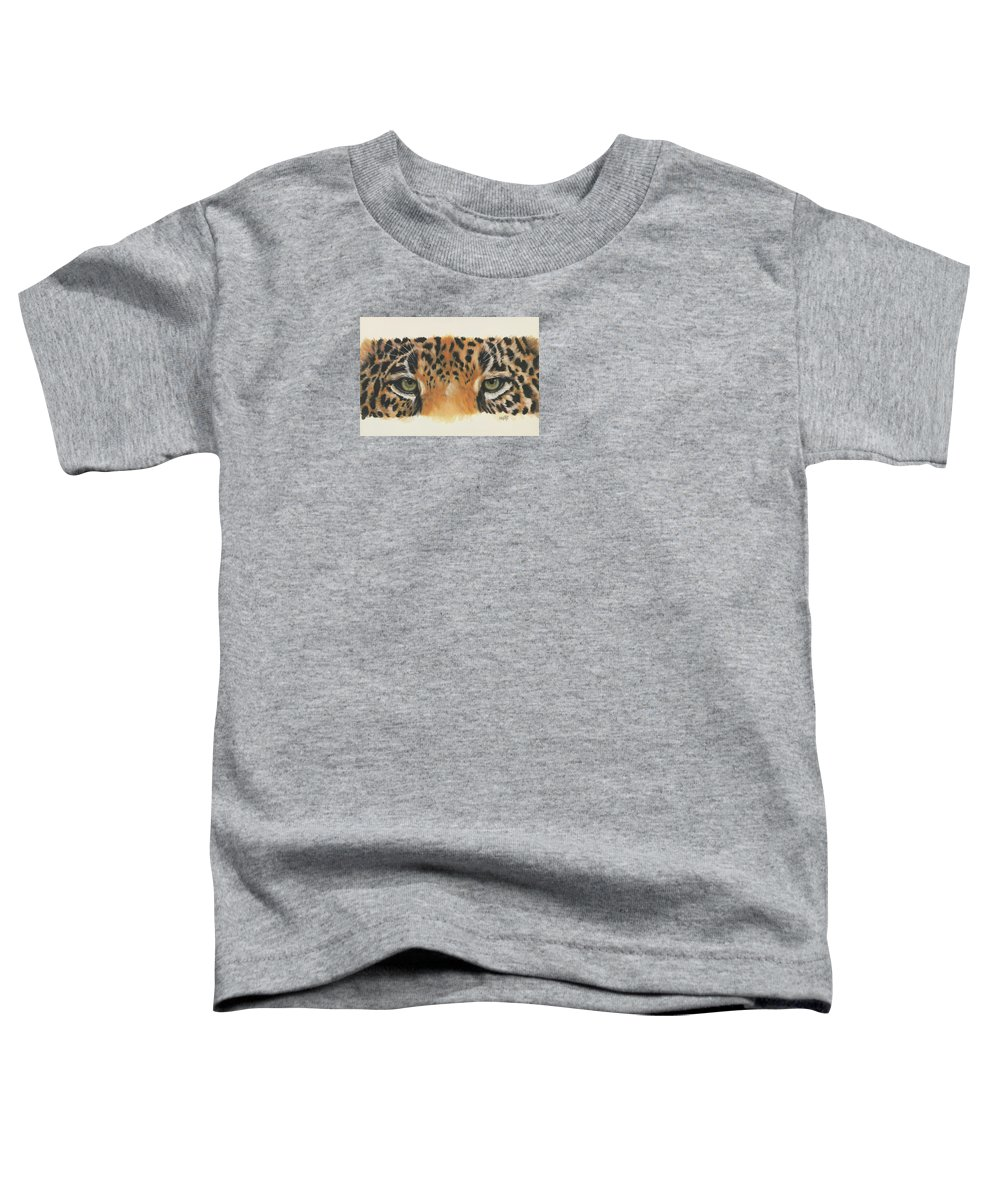 Jaguar Toddler T-Shirt featuring the painting Eye-catching Jaguar by Barbara Keith