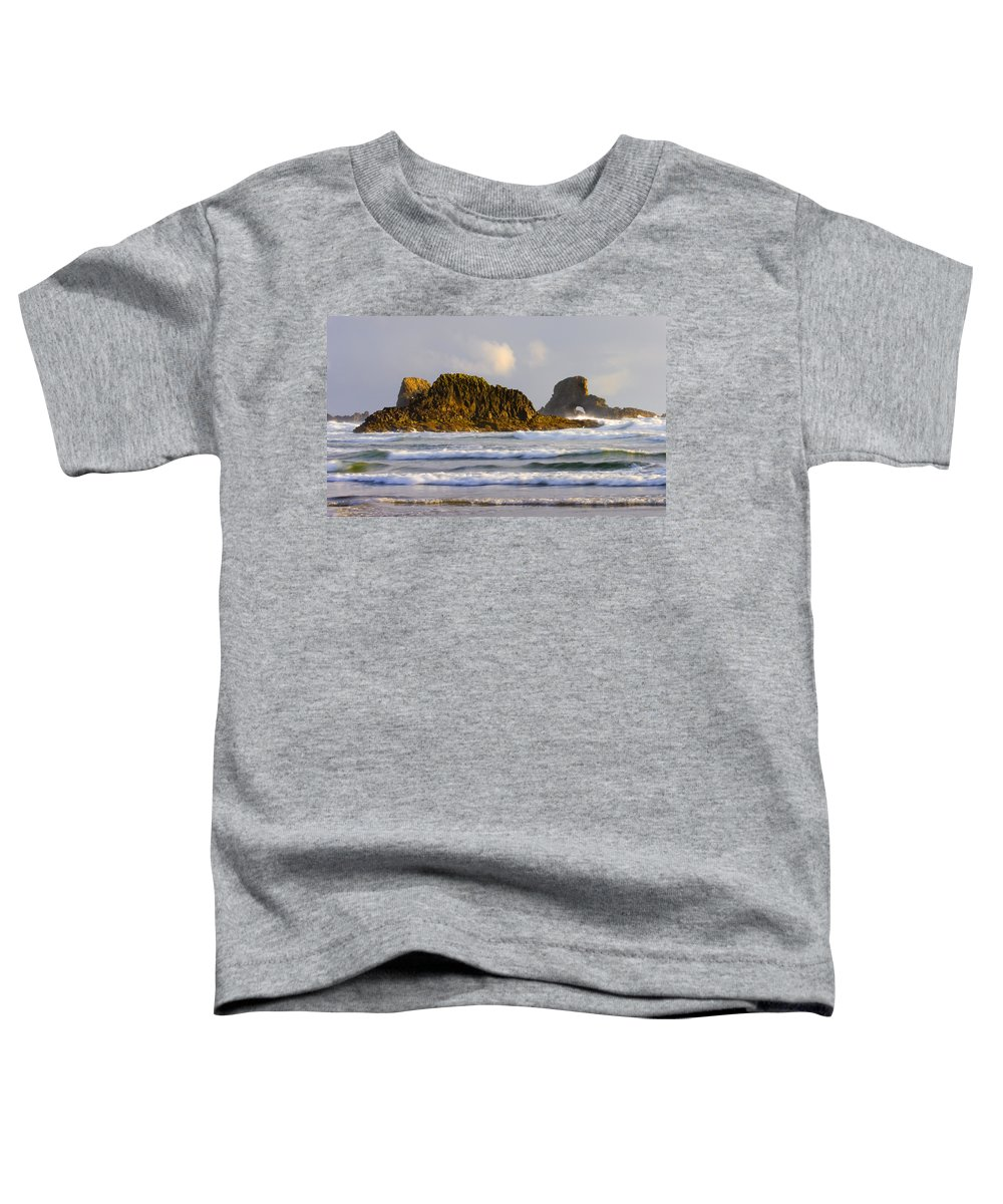 Seastacks Toddler T-Shirt featuring the photograph Eye Of The Storm by Mike Dawson