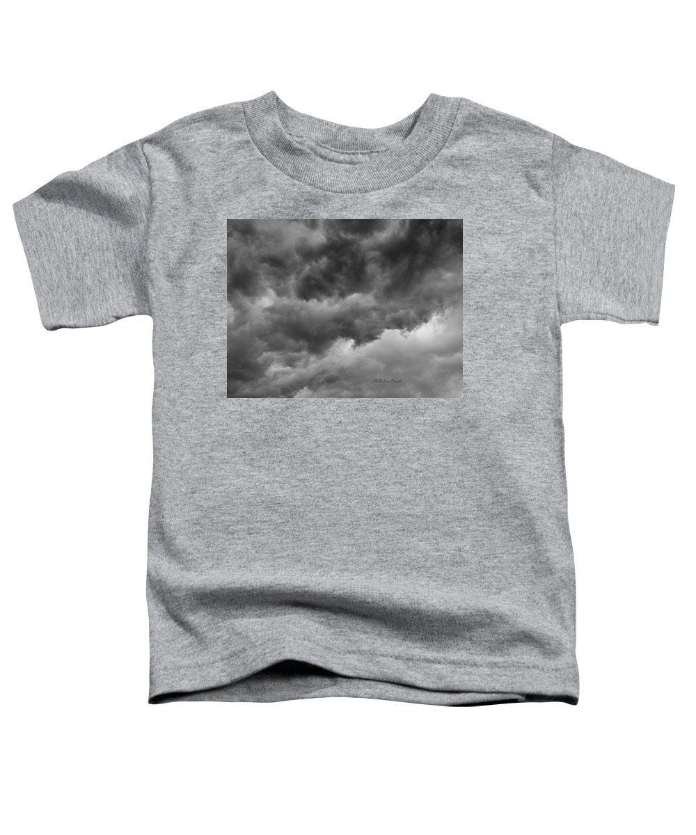 Clouds Toddler T-Shirt featuring the photograph Faces In The Mist Of Chaos by ChelleAnne Paradis