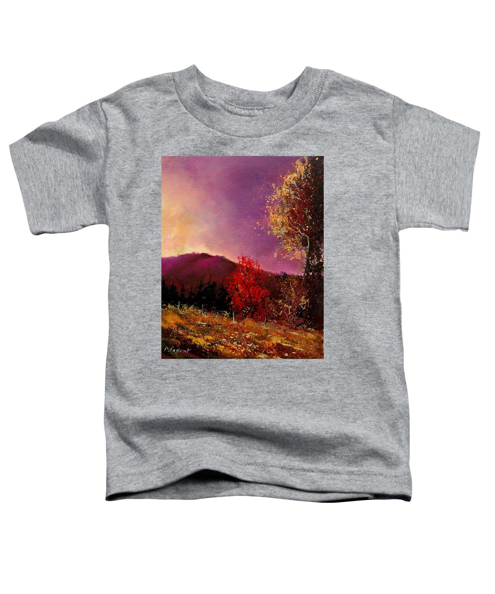 River Toddler T-Shirt featuring the painting Fall Colors by Pol Ledent