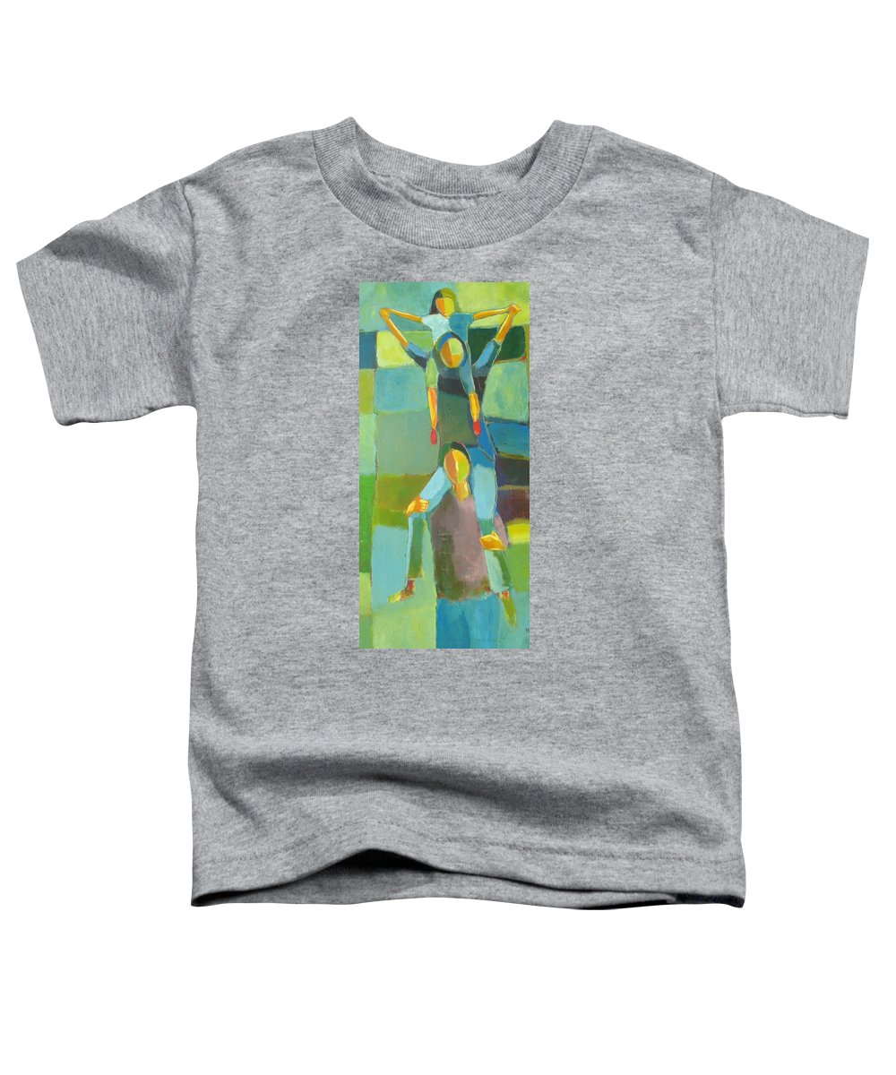 Abstract Toddler T-Shirt featuring the painting Family Joy by Habib Ayat