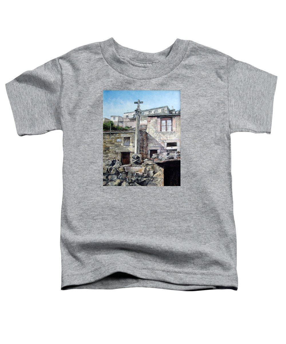 Fermoselle Toddler T-Shirt featuring the painting Fermoselle.-crucero by Tomas Castano