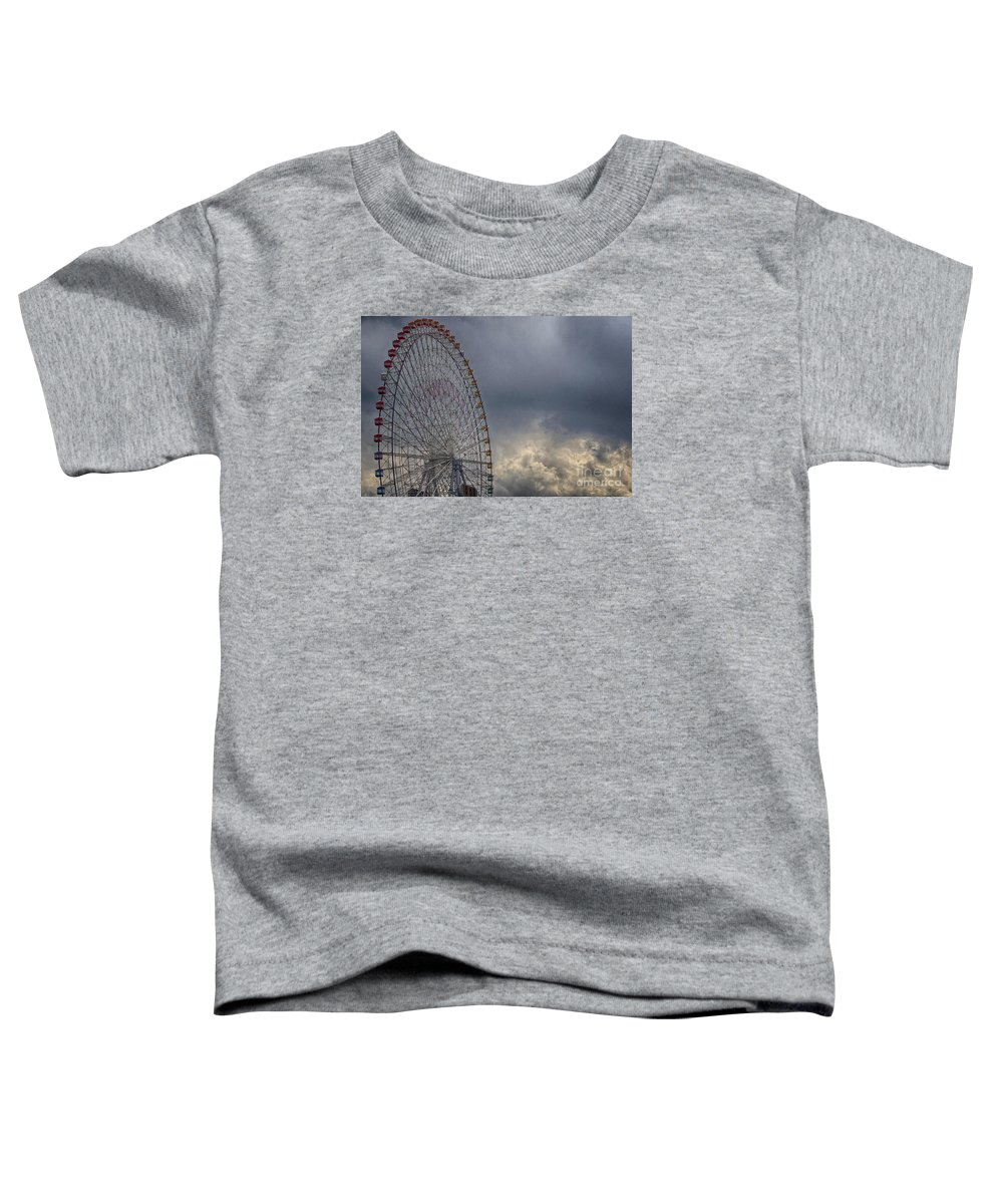 Cloud Toddler T-Shirt featuring the photograph Ferris Wheel by Tad Kanazaki