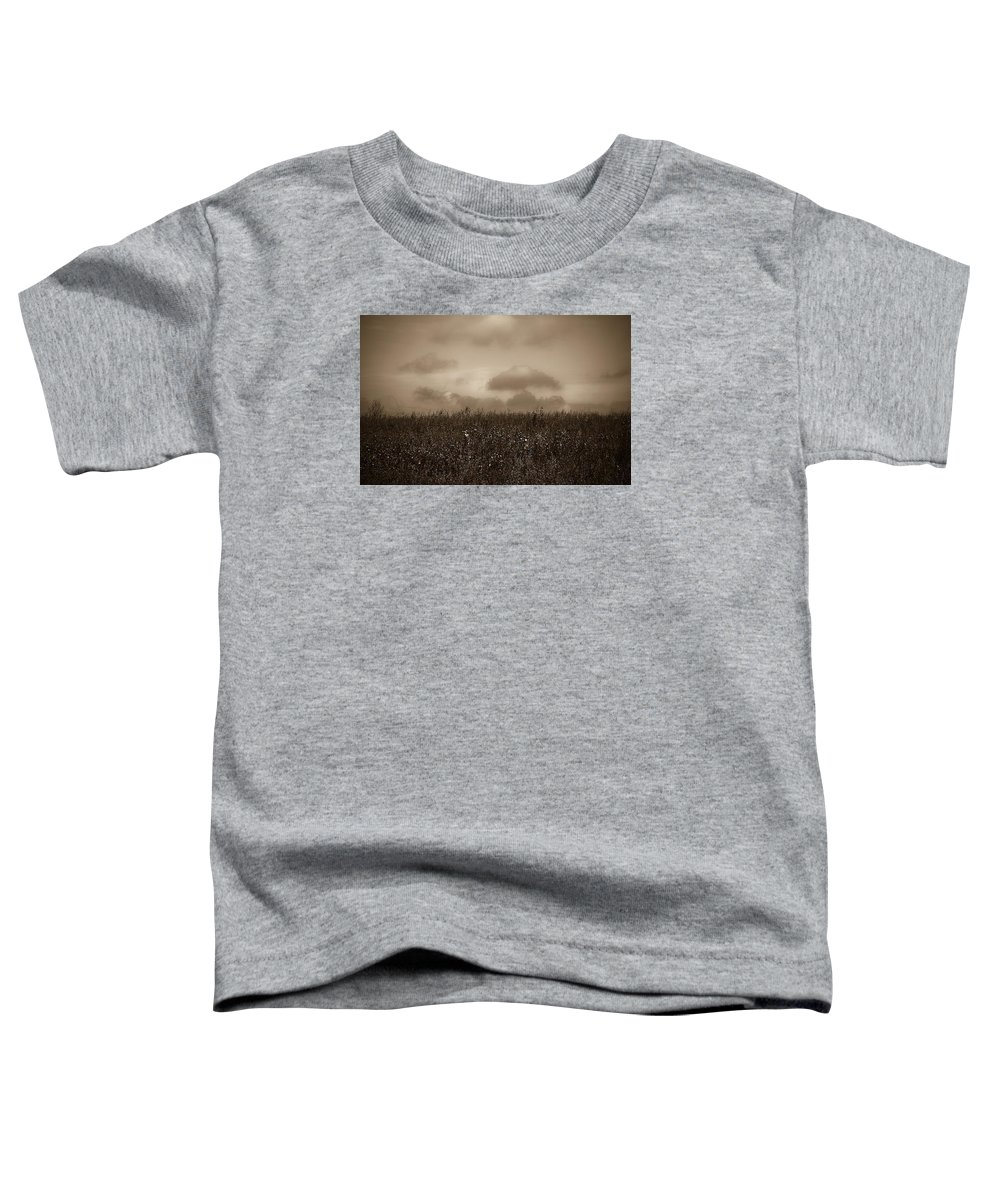 Poland Toddler T-Shirt featuring the photograph Field In Sepia Northern Poland by Michael Ziegler