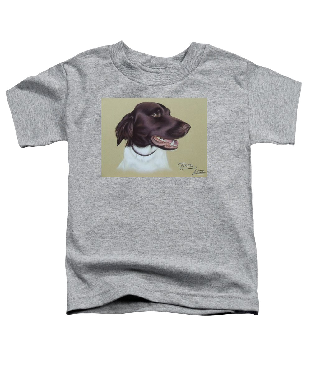 Dog Toddler T-Shirt featuring the pastel Fiete by Nicole Zeug