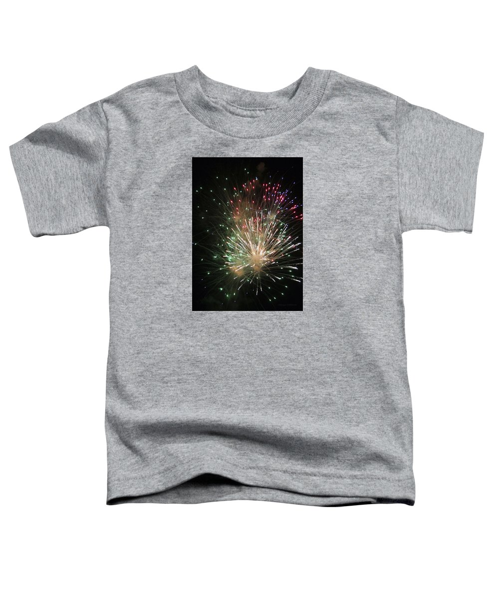 Fireworks Toddler T-Shirt featuring the photograph Fireworks by Margie Wildblood