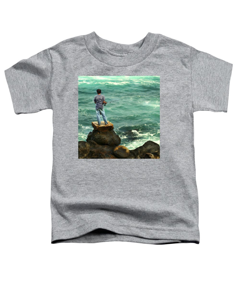 Americana Toddler T-Shirt featuring the photograph Fisherman by Marilyn Hunt