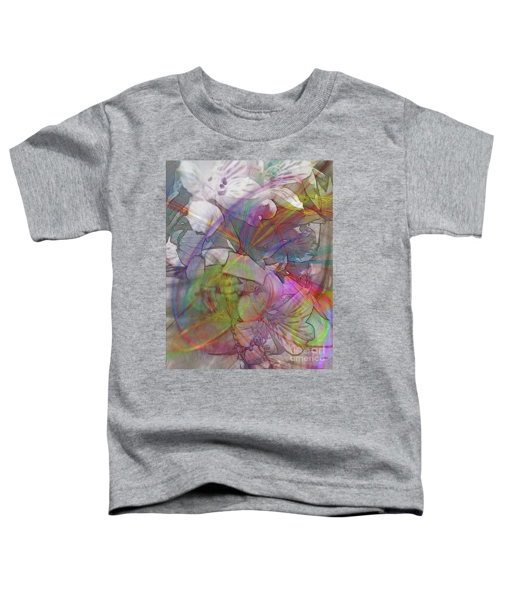 Floral Fantasy Toddler T-Shirt featuring the digital art Floral Fantasy by John Beck