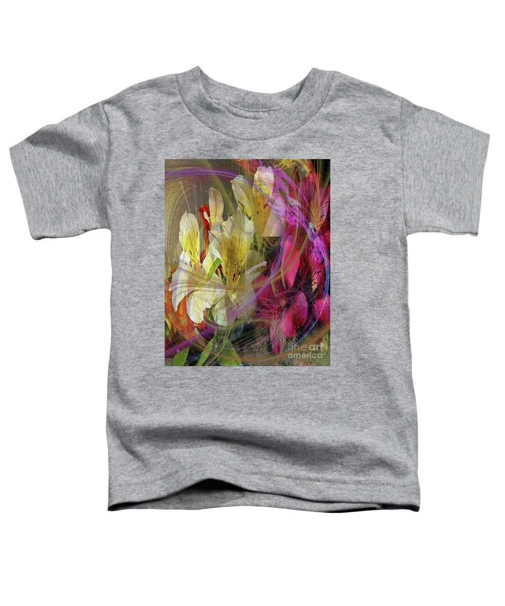 Floral Inspiration Toddler T-Shirt featuring the digital art Floral Inspiration by John Beck