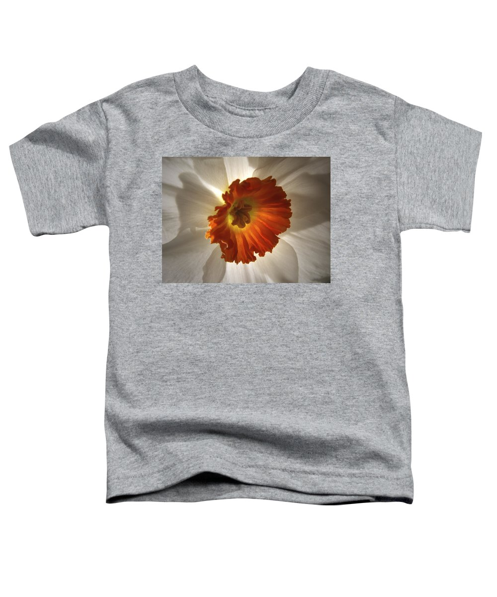 Flowers Toddler T-Shirt featuring the photograph Flower Narcissus by Nancy Griswold