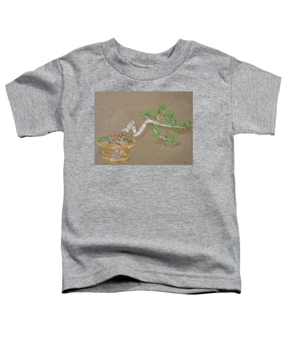 Banzai Tree Toddler T-Shirt featuring the painting For Inge by Leah Tomaino
