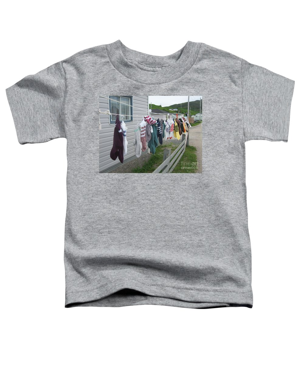 Knitted Socks Newfoundland Toddler T-Shirt featuring the photograph For Sale by Seon-Jeong Kim