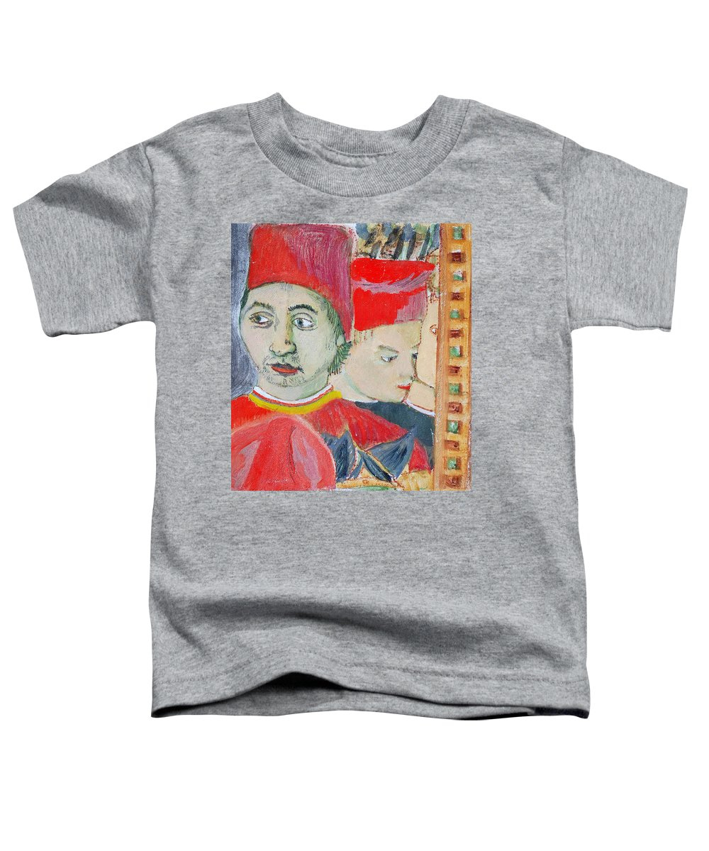 Italian Toddler T-Shirt featuring the painting Fratello by Kurt Hausmann