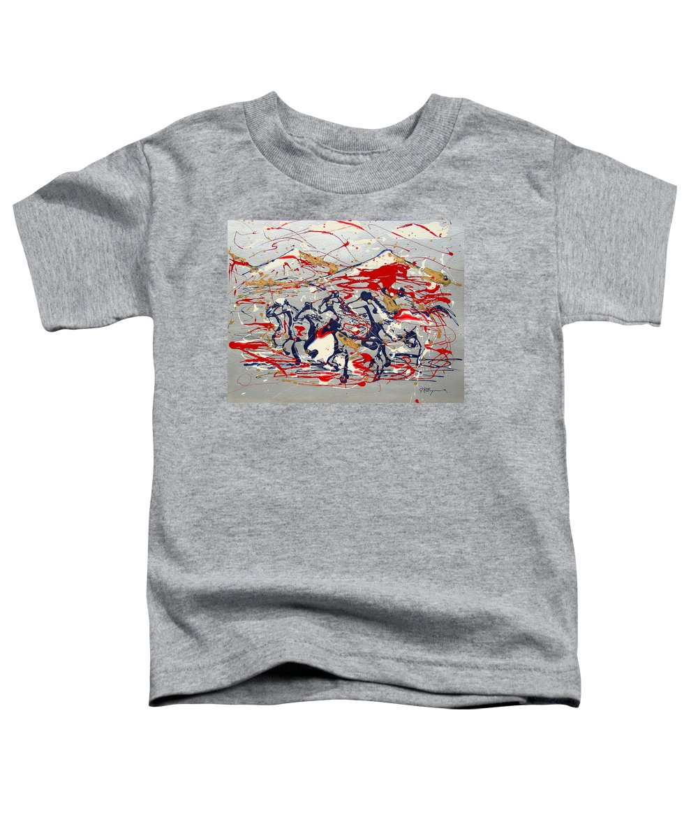 Wild Horses Toddler T-Shirt featuring the painting Freedom On The Open Range by J R Seymour