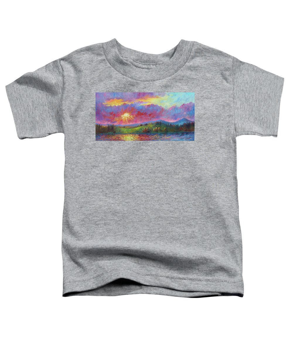 Landscape Toddler T-Shirt featuring the painting Front Range Sunset by David G Paul