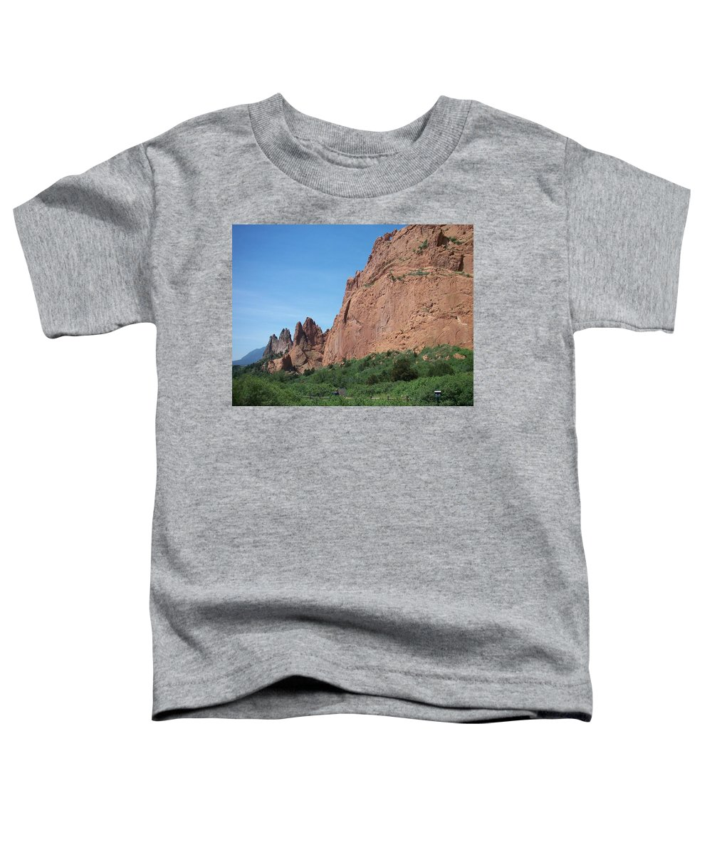Colorado Toddler T-Shirt featuring the photograph Garden Of The Gods by Anita Burgermeister