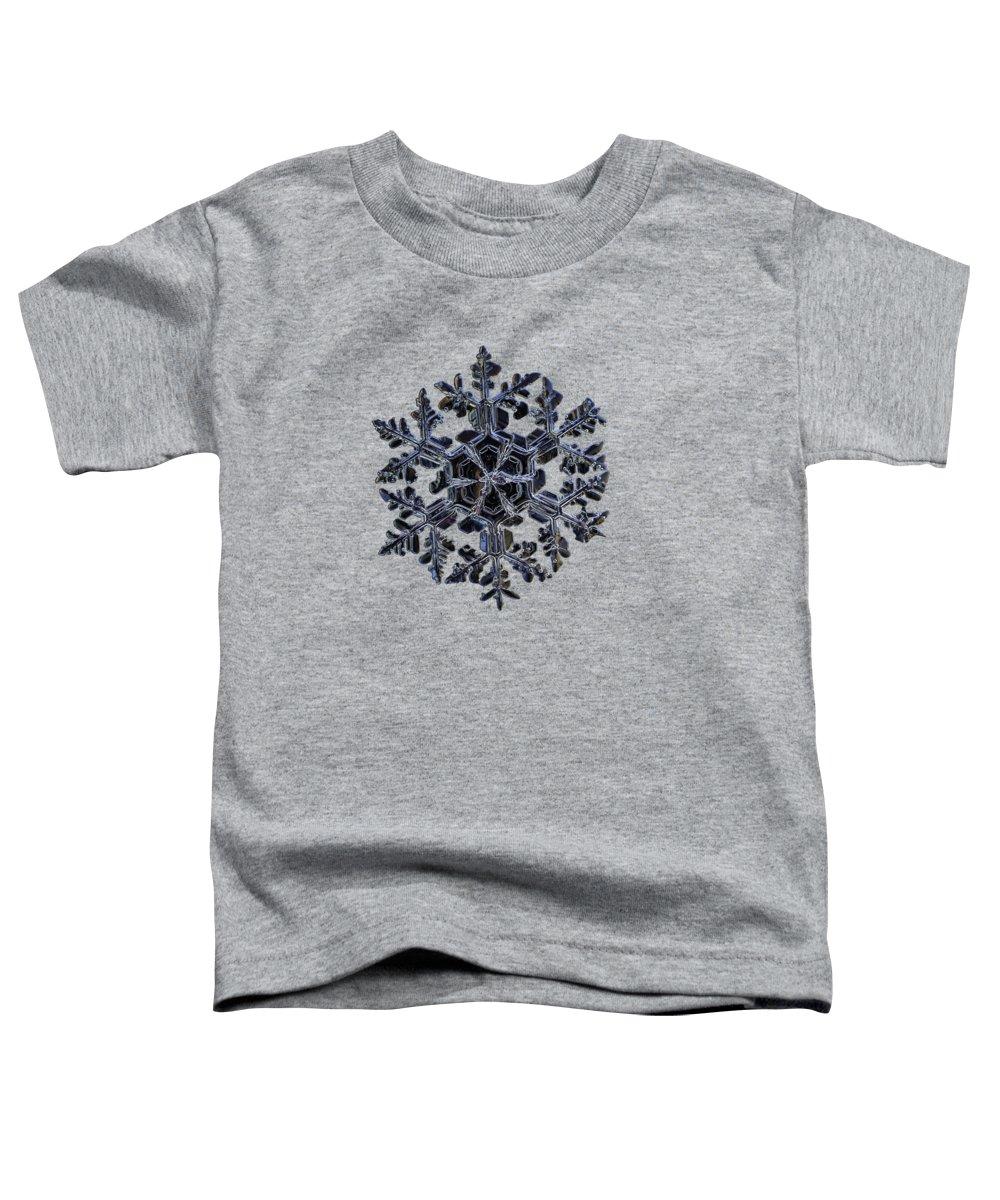 Snowflake Toddler T-Shirt featuring the photograph Gardener's Dream, Dark On Black Version by Alexey Kljatov