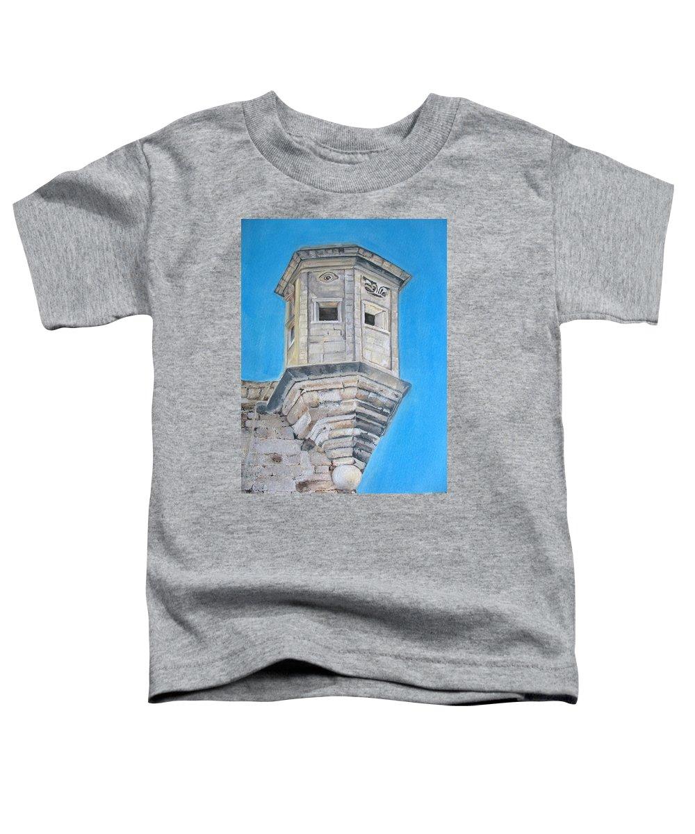 Malta Toddler T-Shirt featuring the painting Gardjola by Lisa Cini