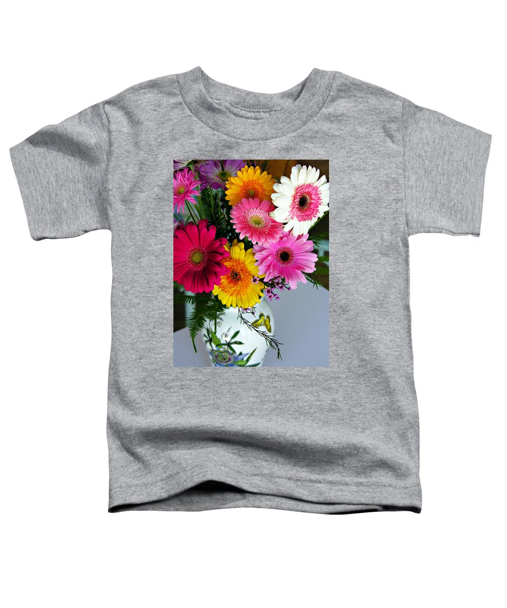 Flower Toddler T-Shirt featuring the photograph Gerbera Daisy Bouquet by Marilyn Hunt