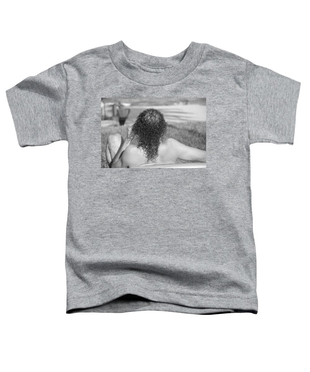 Black And White Toddler T-Shirt featuring the photograph Give It Up Dude by Rob Hans