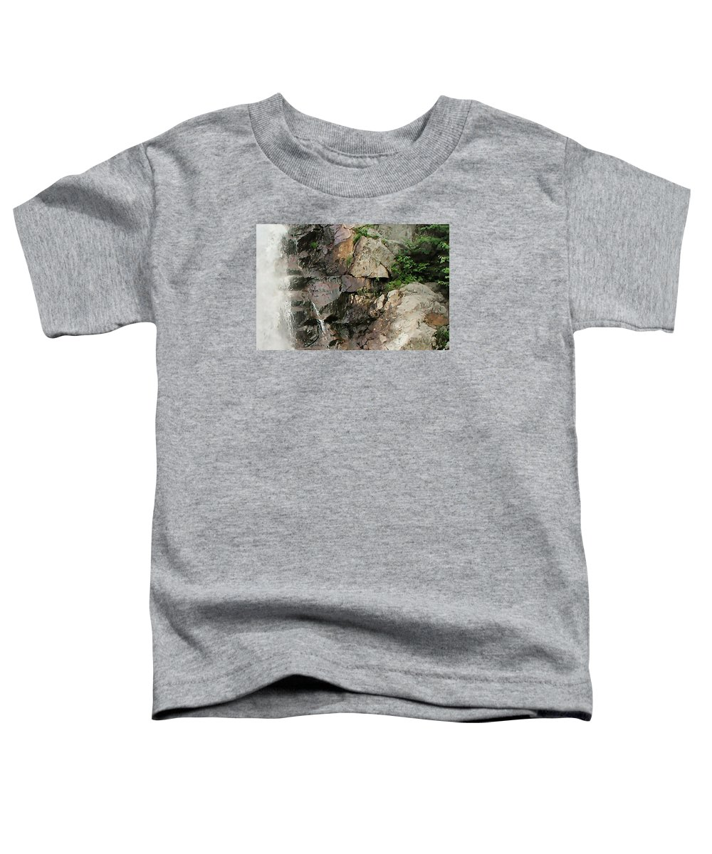 Waterfall Toddler T-Shirt featuring the photograph Glen Falls Abstract by Dave Martsolf