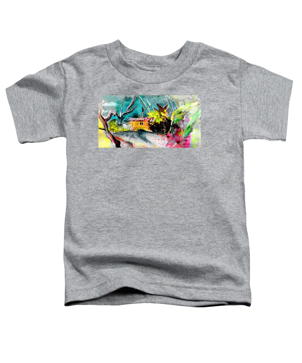 Pastel Painting Toddler T-Shirt featuring the painting Glory Of Nature by Miki De Goodaboom