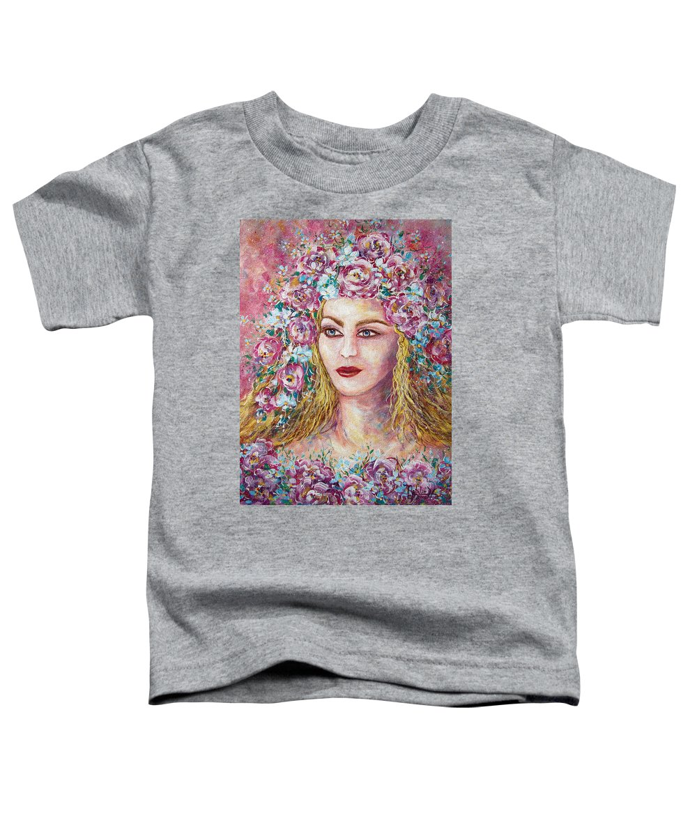 Goddess Of Good Fortune Toddler T-Shirt featuring the painting Goddess Of Good Fortune by Natalie Holland