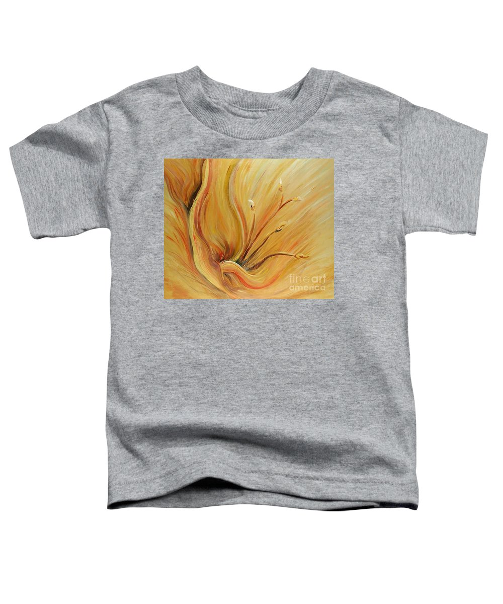 Gold Toddler T-Shirt featuring the painting Golden Glow by Nadine Rippelmeyer