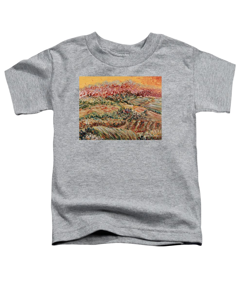 Provence Toddler T-Shirt featuring the painting Golden Provence by Nadine Rippelmeyer