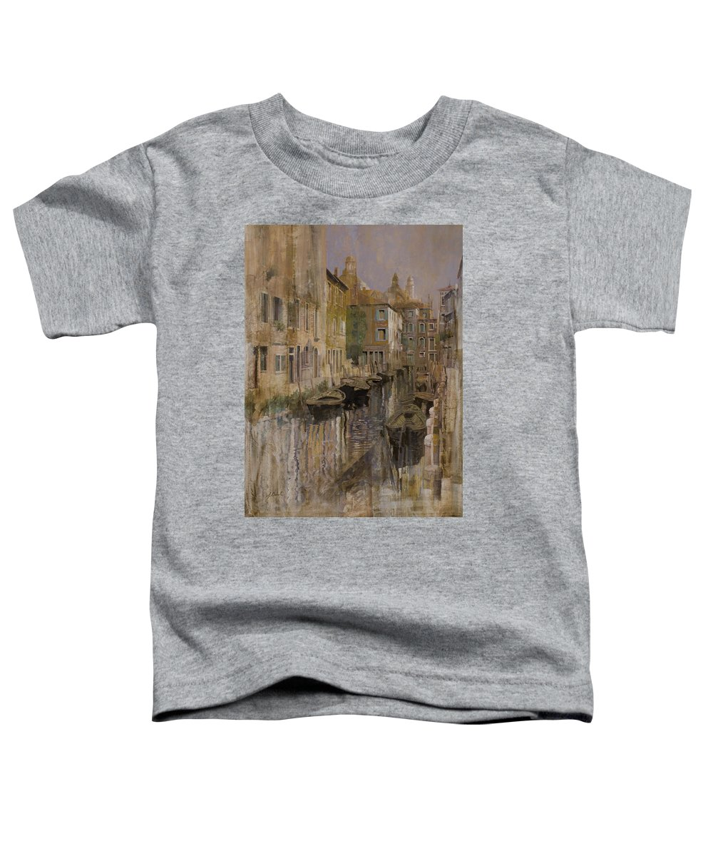 Venice Toddler T-Shirt featuring the painting Golden Venice by Guido Borelli