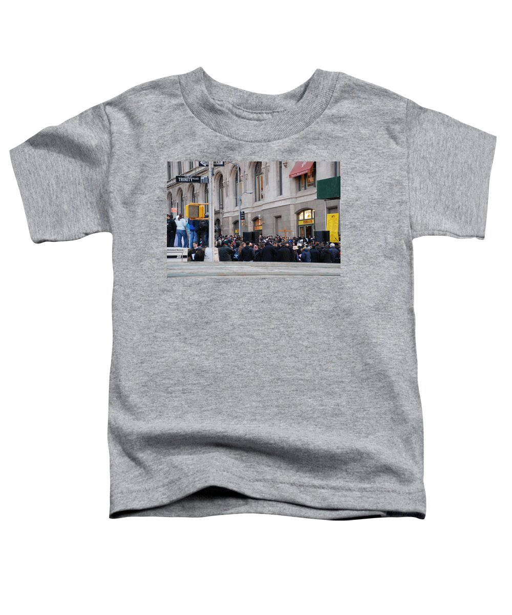 Church Toddler T-Shirt featuring the photograph Good Friday On Trinity Place by Rob Hans