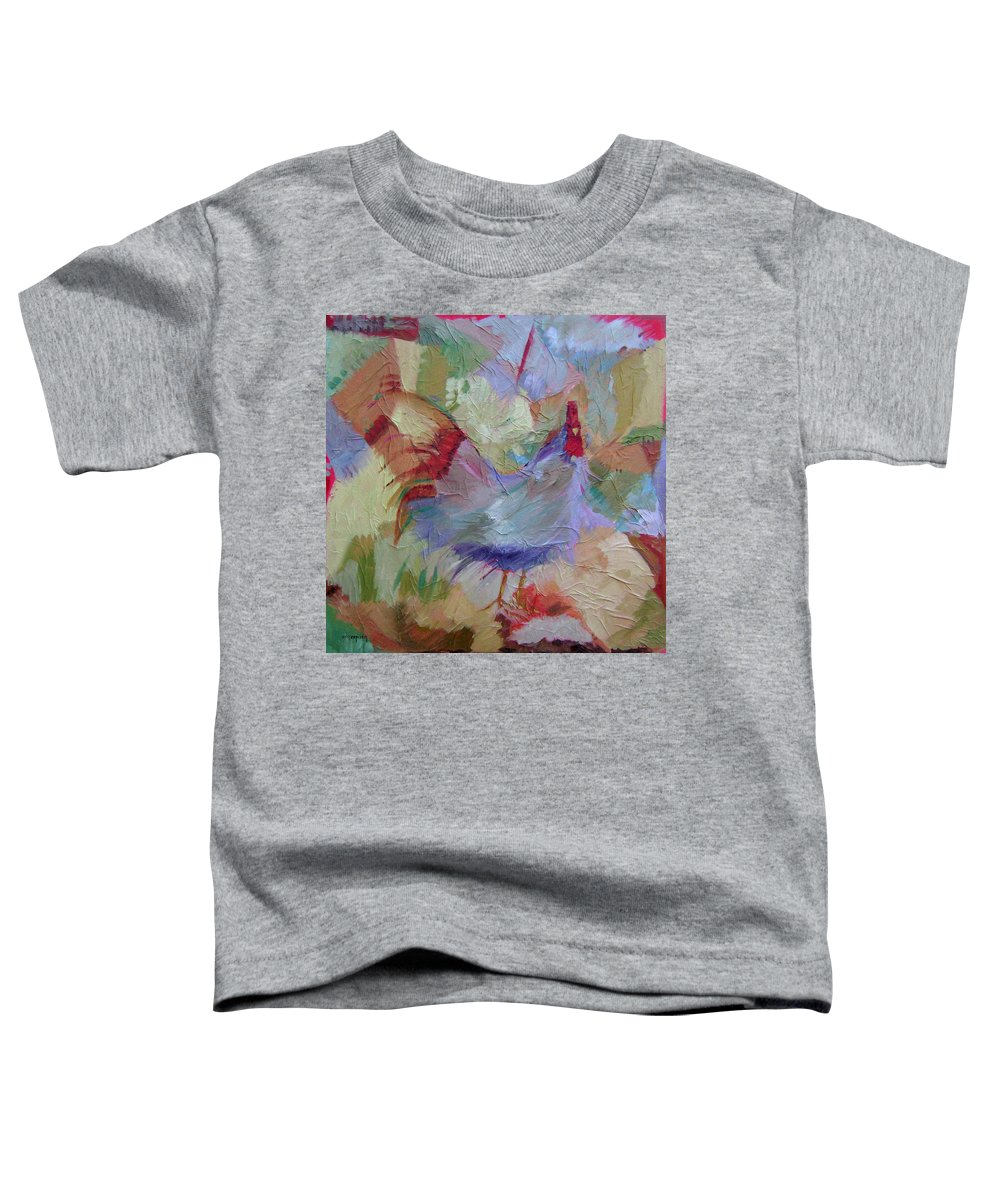 Chicken Paintings Toddler T-Shirt featuring the painting Good Morning by Ginger Concepcion
