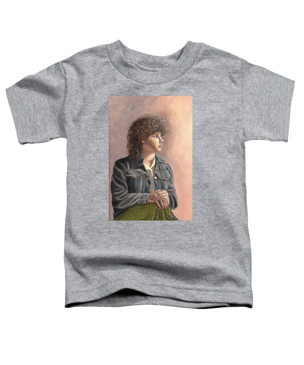 Toddler T-Shirt featuring the painting Grace by Toni Berry