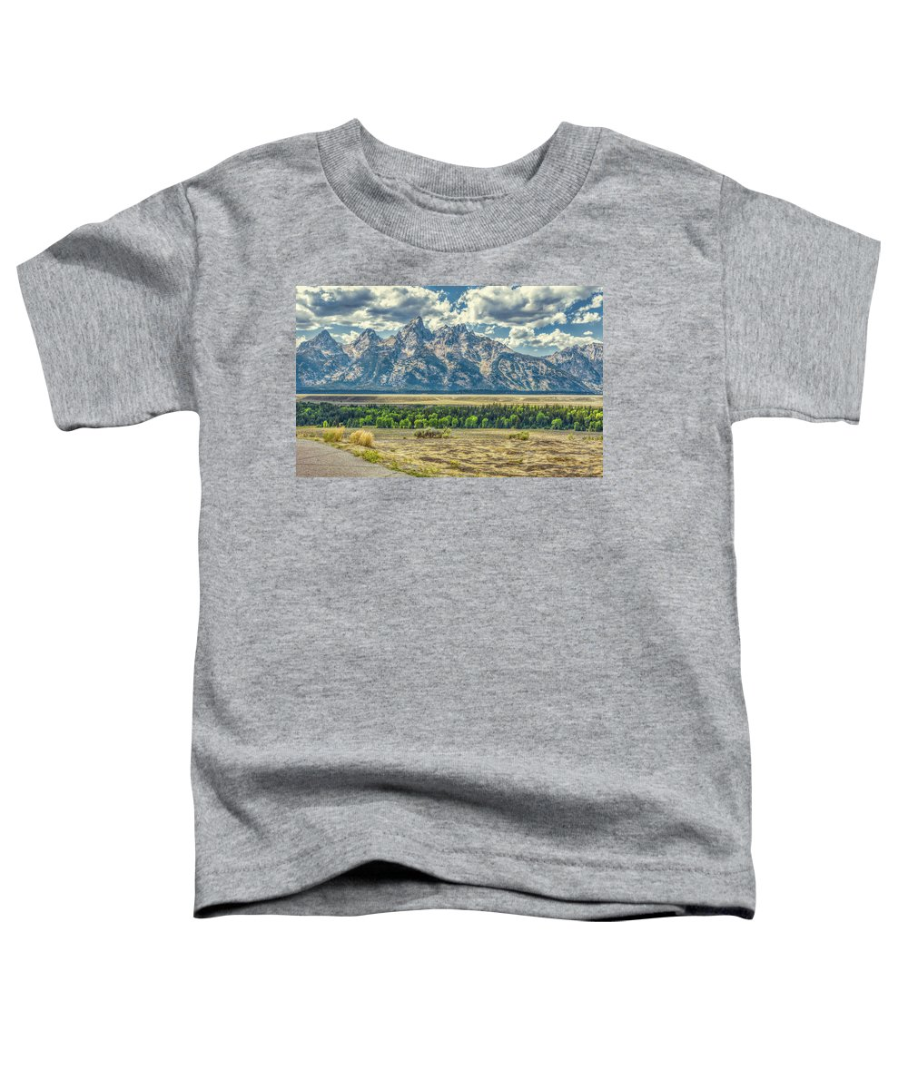 Jackson Toddler T-Shirt featuring the photograph Grand Tetons National Park by John M Bailey