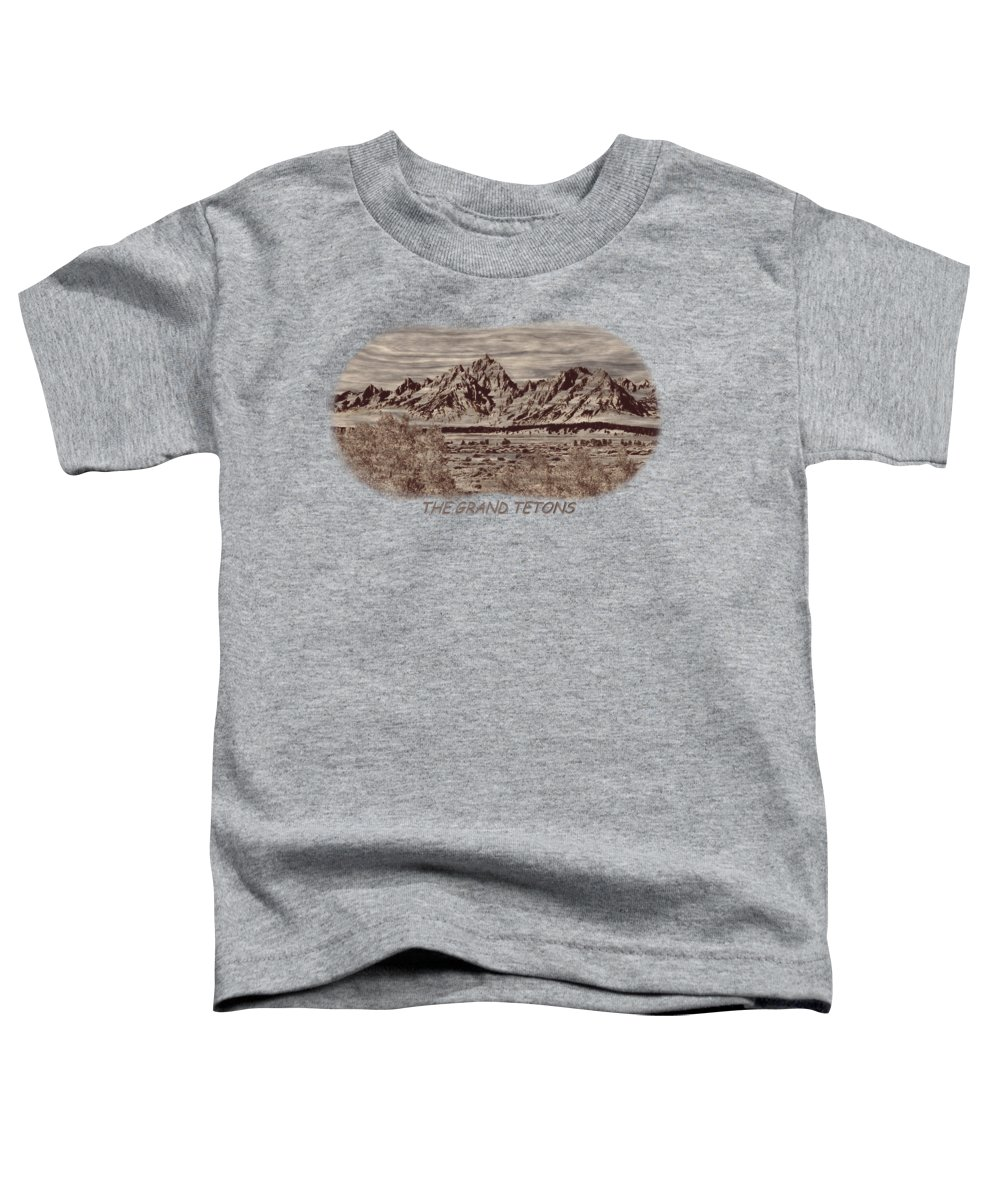 Jackson Toddler T-Shirt featuring the photograph Grand Tetons Woodburning 2 by John M Bailey